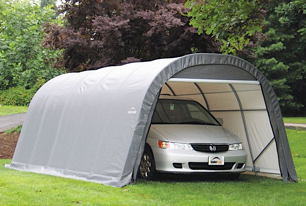 shelterlogic portable garages